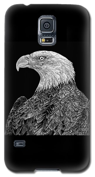 Bald Eagle Scratchboard Galaxy S5 Case