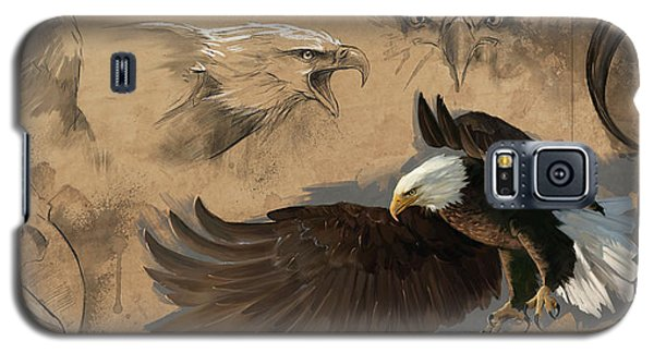 Bald Eagle Study Sheet Galaxy S5 Case