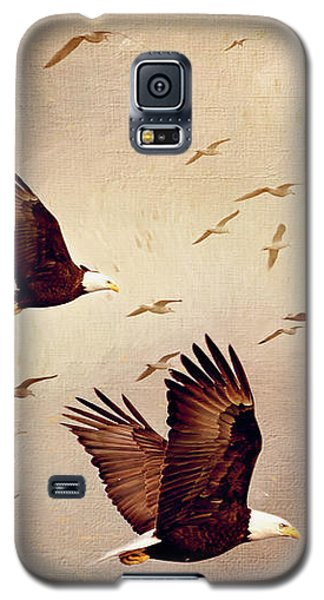 Bald Eagles And Seagulls Galaxy S5 Case
