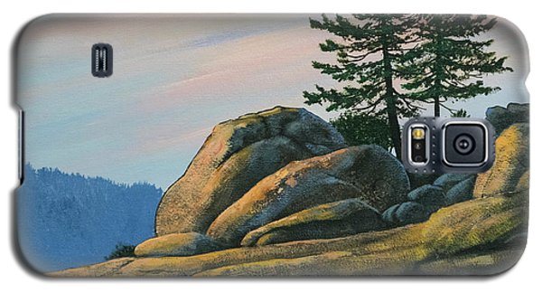 Galaxy S5 Case featuring the painting Bald Rock At Sunset by Frank Wilson