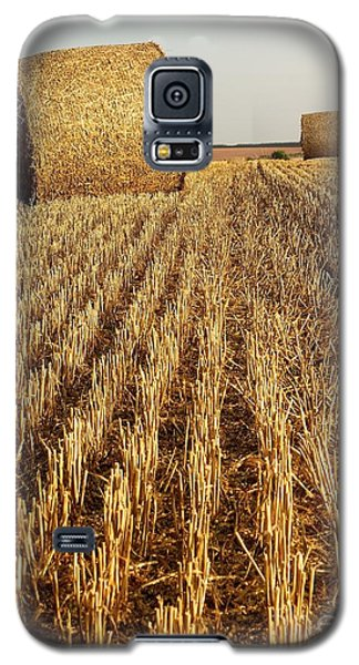 Galaxy S5 Case featuring the photograph Bales Of Hay by Gary Bridger