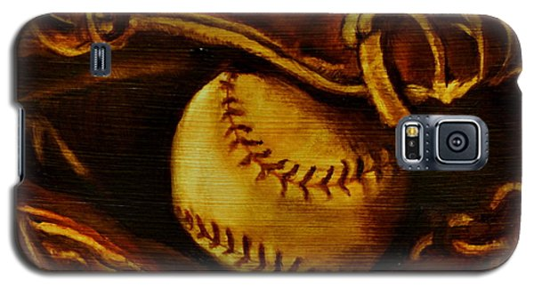 Galaxy S5 Case featuring the painting Ball In Glove 2 by Lindsay Frost