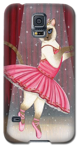 Ballerina Cat - Dancing Siamese Cat Galaxy S5 Case