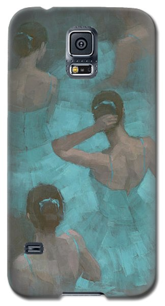 Ballerinas In Blue Galaxy S5 Case