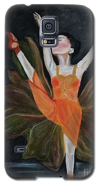 Galaxy S5 Case featuring the painting Ballet Dancer 1 by Brindha Naveen