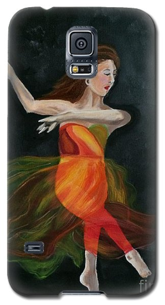 Galaxy S5 Case featuring the painting Ballet Dancer 2 by Brindha Naveen