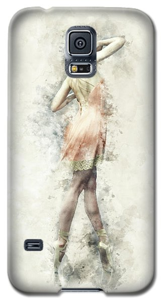 Galaxy S5 Case featuring the digital art Ballet Dancer by Shanina Conway