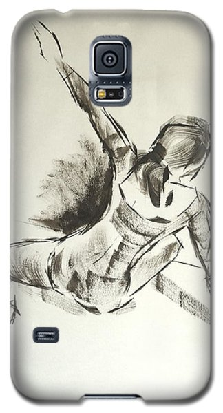 Ballet Dancer Sitting On Floor With Weight On Her Right Arm Galaxy S5 Case