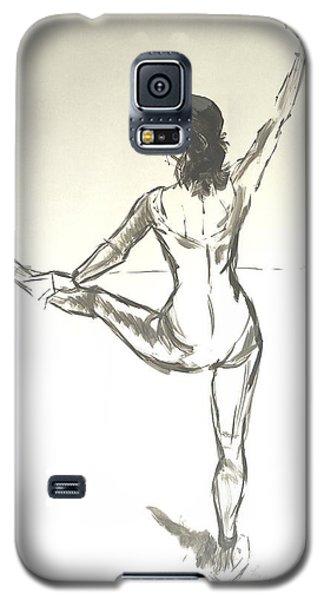 Ballet Dancer With Left Leg On Bar Galaxy S5 Case