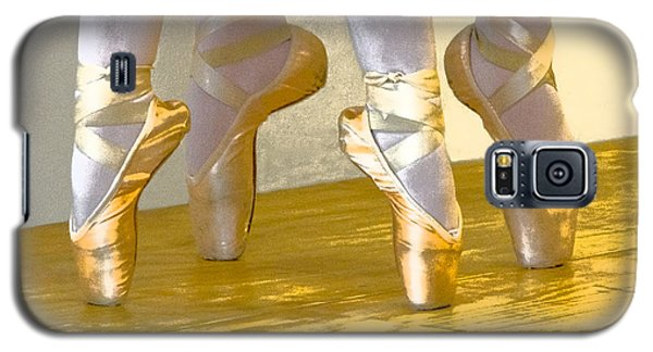 Ballet Second Position In Gold Galaxy S5 Case