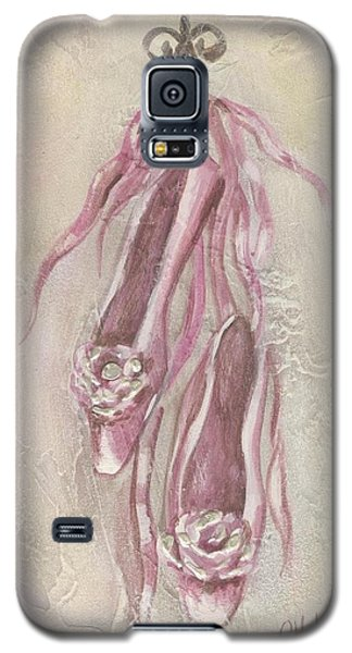 Ballet Shoes Painting Galaxy S5 Case by Chris Hobel