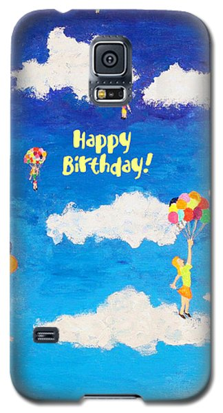 Balloon Girls Birthday Greeting Card Galaxy S5 Case