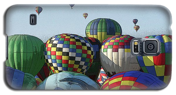 Galaxy S5 Case featuring the photograph Balloon Traffic Jam by Marie Leslie