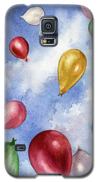 Galaxy S5 Case featuring the painting Balloons In Flight by Anne Gifford