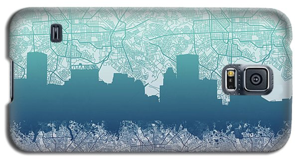 Galaxy S5 Case featuring the painting Baltimore City Skyline Map 2 by Bekim Art