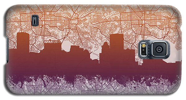 Galaxy S5 Case featuring the painting Baltimore City Skyline Map by Bekim Art