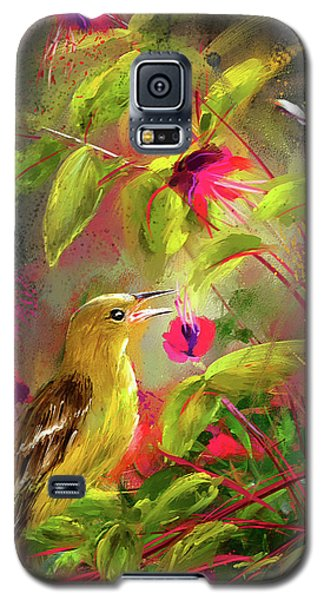 Baltimore Oriole Art- Baltimore Female Oriole Art Galaxy S5 Case by Lourry Legarde