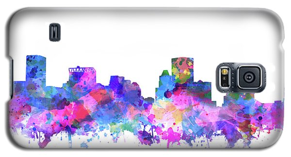 Galaxy S5 Case featuring the painting Baltimore Skyline Watercolor 4 by Bekim Art