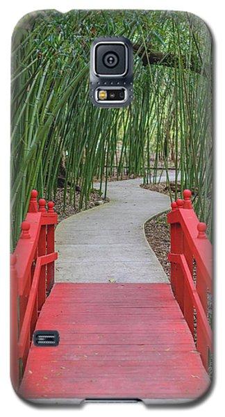 Bamboo Path Through A Red Bridge Galaxy S5 Case