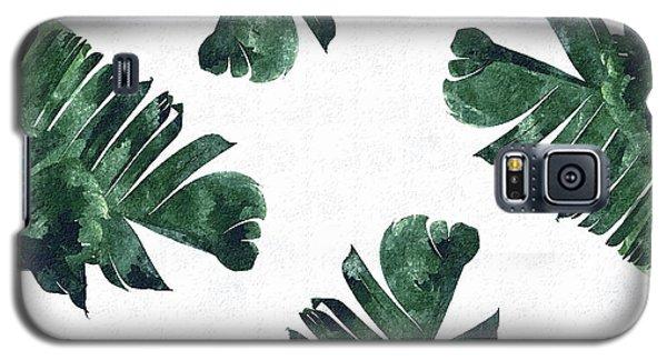 Banan Leaf Watercolor Galaxy S5 Case
