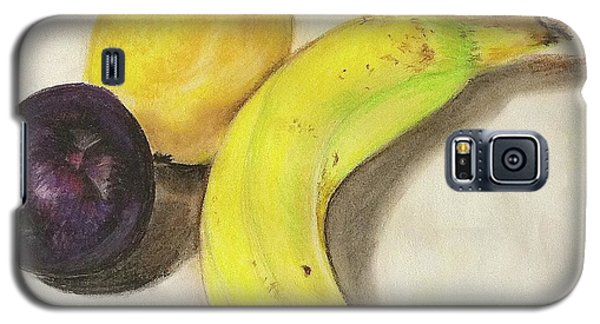 Galaxy S5 Case featuring the pastel Banana And Company by Sheron Petrie