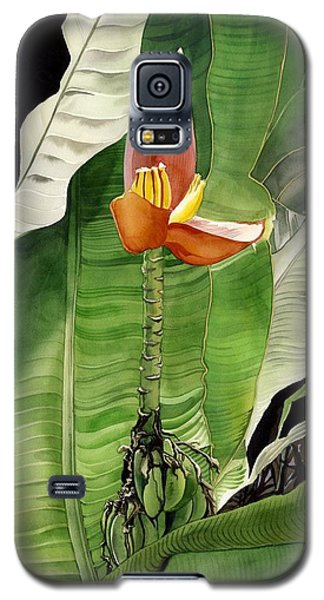 Galaxy S5 Case featuring the painting Banana Blossom by Alfred Ng