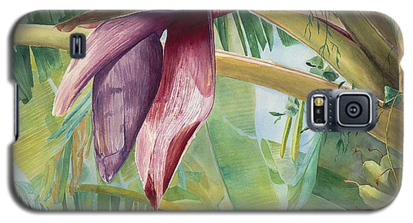 Galaxy S5 Case featuring the painting Banana Flower by AnnaJo Vahle