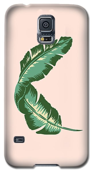 Fruits Galaxy S5 Case - Banana Leaf Square Print by Lauren Amelia Hughes