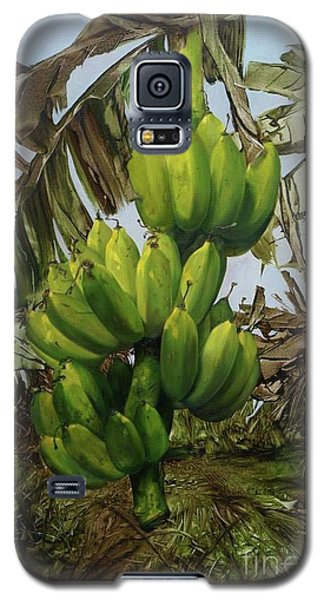 Galaxy S5 Case featuring the painting Banana Tree by Chonkhet Phanwichien