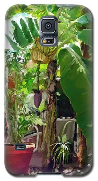 Galaxy S5 Case featuring the painting Banana Tree by David  Van Hulst