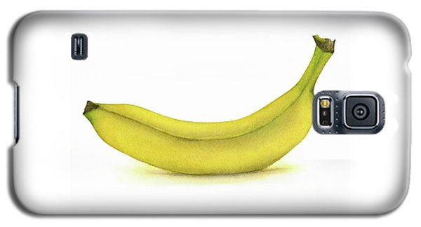Banana Watercolor Galaxy S5 Case by Taylan Apukovska
