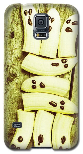Banana Galaxy S5 Case - Bananas With Painted Chocolate Faces by Jorgo Photography - Wall Art Gallery