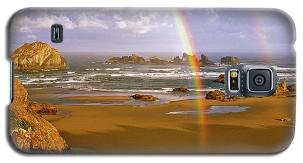 Bandon Beach Rainbow Sunrise Galaxy S5 Case