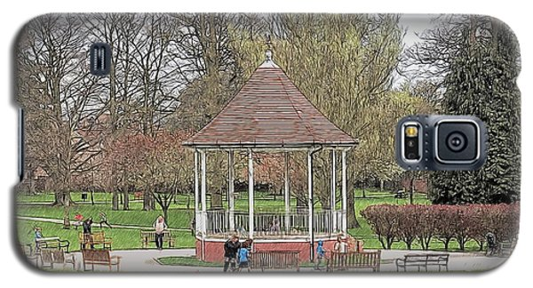 Galaxy S5 Case featuring the drawing Bandstand Games by Paul Gulliver