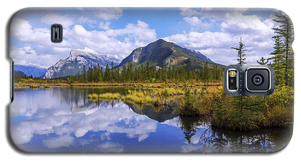 Galaxy S5 Case featuring the photograph Banff Reflection by Chad Dutson