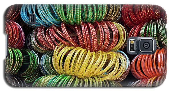 Galaxy S5 Case featuring the photograph Bangles Of India by Tim Gainey
