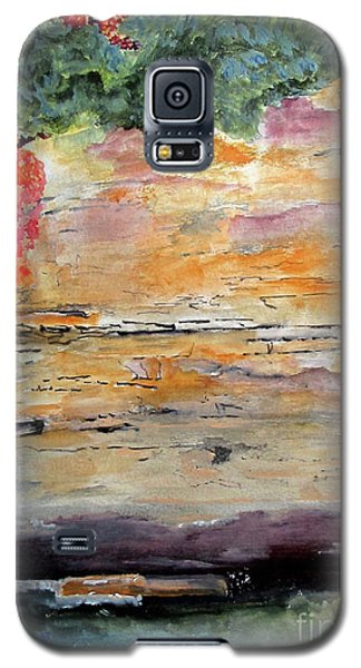 Galaxy S5 Case featuring the painting Bank Of The Gauley River by Sandy McIntire