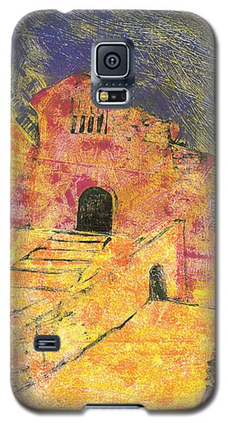 Galaxy S5 Case featuring the painting Banon Village In Provence by Martin Stankewitz