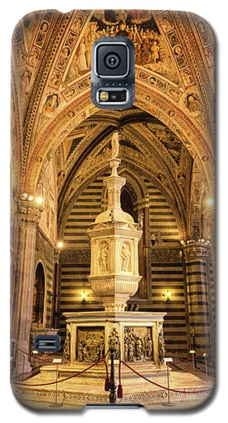 Galaxy S5 Case featuring the photograph Baptistery Siena Italy by Joan Carroll