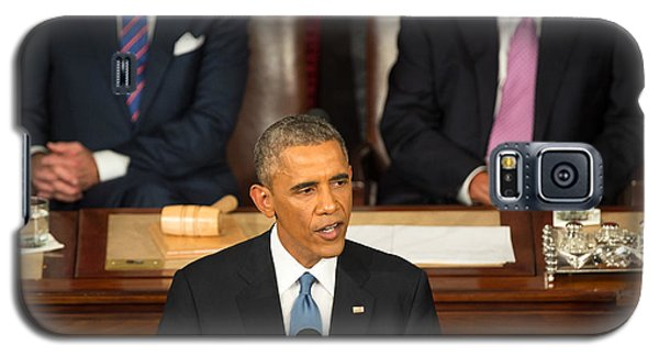 Barack Obama 2015 Sotu Address Galaxy S5 Case by Science Source