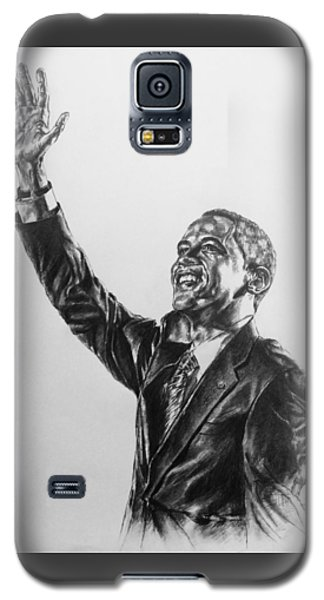 Galaxy S5 Case featuring the painting Barack Obama by Darryl Matthews