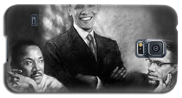 Barack Obama Martin Luther King Jr And Malcolm X Galaxy S5 Case by Ylli Haruni