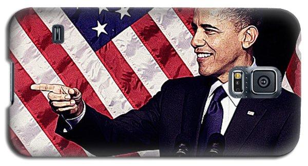 Barack Obama Galaxy S5 Case by Iguanna Espinosa