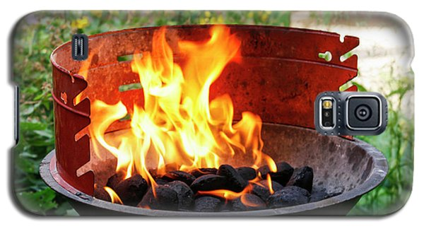 Galaxy S5 Case featuring the photograph Barbecue With Flames by Patricia Hofmeester