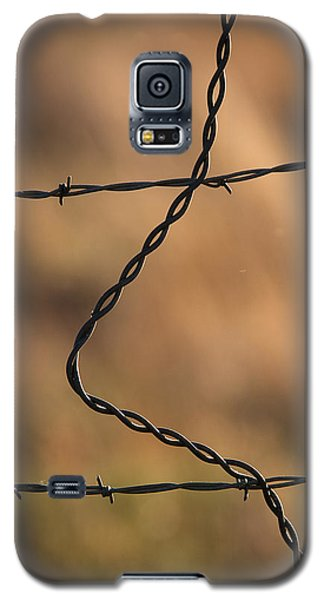 Barbed And Bent Fence Galaxy S5 Case by Monte Stevens