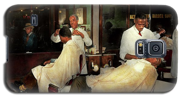 Galaxy S5 Case featuring the photograph Barber - A Time Honored Tradition 1941 by Mike Savad