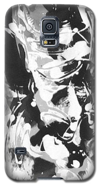 Galaxy S5 Case featuring the painting Barber by Carol Rashawnna Williams