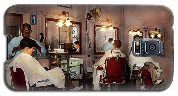 Galaxy S5 Case featuring the photograph Barber - Senators-only Barbershop 1937 by Mike Savad