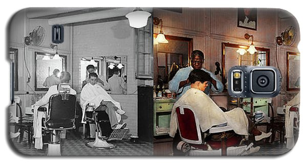 Galaxy S5 Case featuring the photograph Barber - Senators-only Barbershop 1937 - Side By Side by Mike Savad