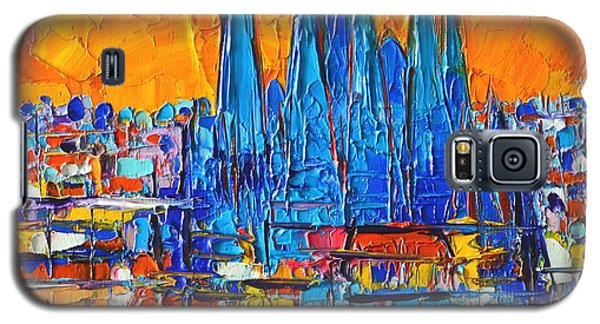 Barcelona Abstract Cityscape 7 - Sagrada Familia Galaxy S5 Case